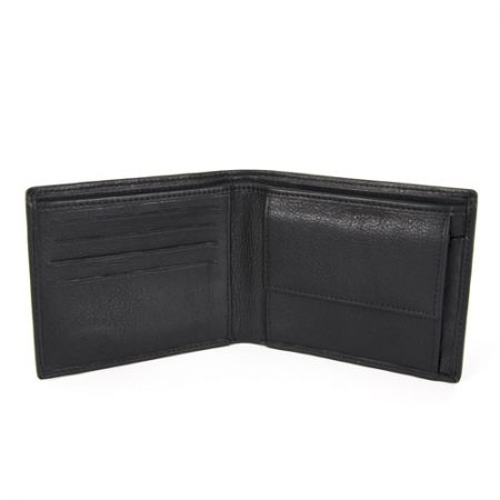 Usnjena-mala-denarnica-3521 odprta črna