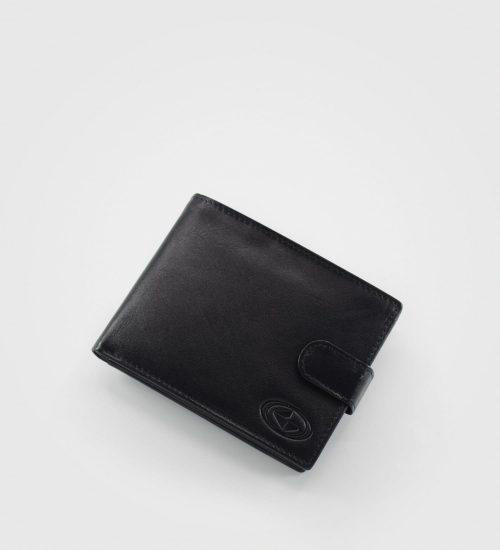 Gladka velika denarnica London- črna
