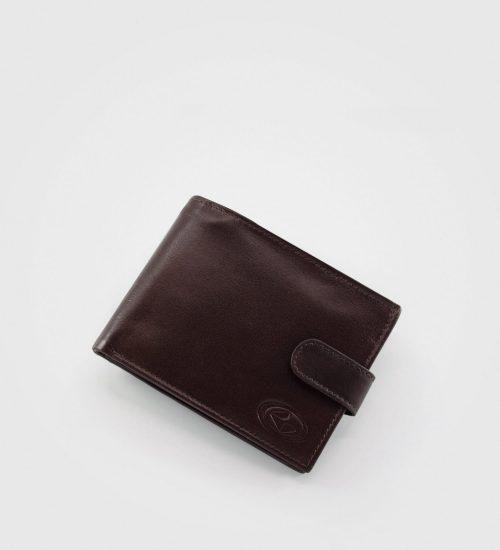 Gladka velika denarnica London- rjava