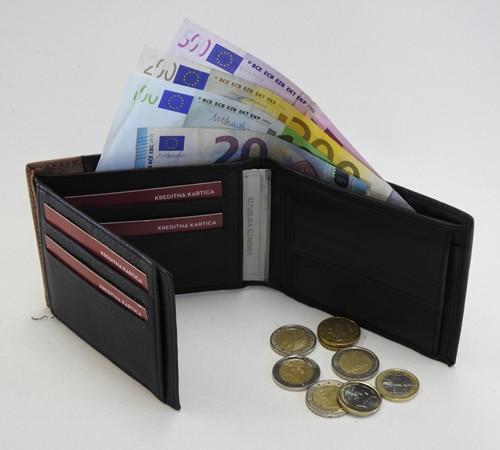 Moška denarnica 22419- odprta