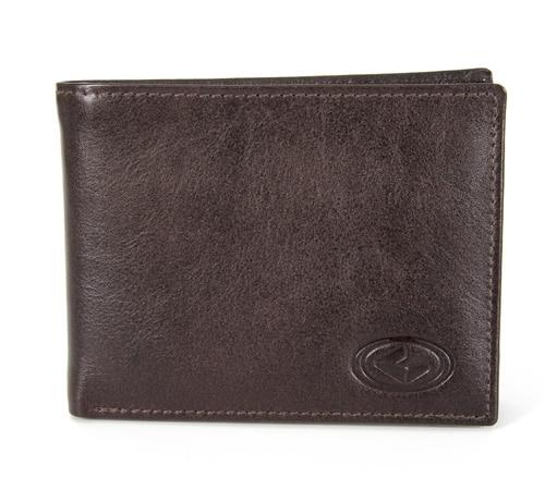 Velika usnjena denarnica Hemilton-rjava
