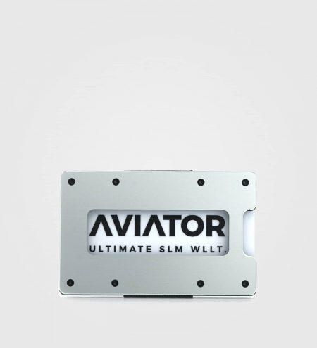 Aluminijasta denarnica Aviator Slim- srebrna
