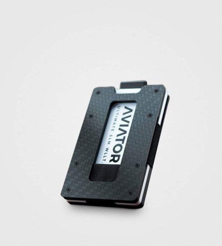 Denarnica za kartice Aviator Slide- karbon