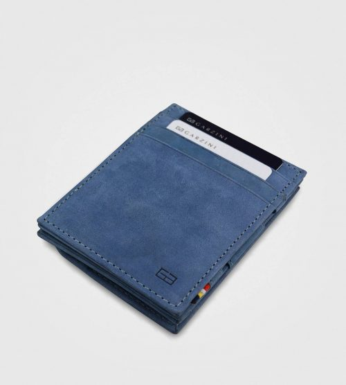 Essenziale Garzini Vintage z drobižnico- modra