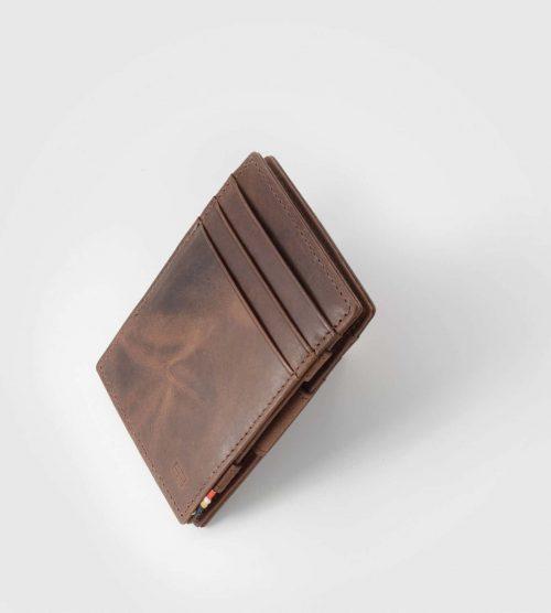 Magična usnjena denarnica-Cavare rjava