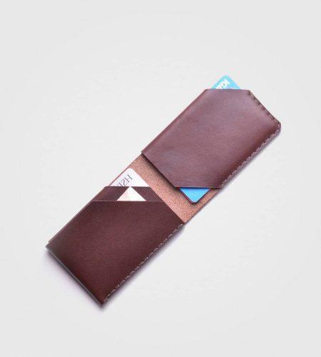 Uniaktna denarnica Natural- kostanjevo rjava barva
