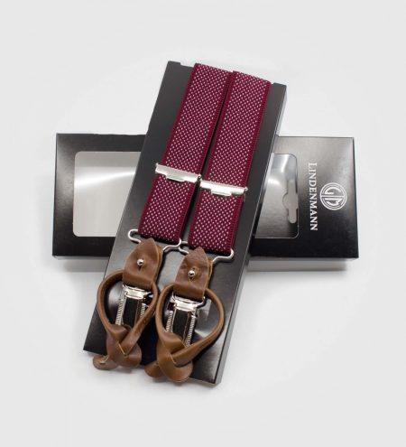 Elastične naramnice za hlače - rdeče